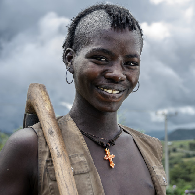 """""""Benner and Tsemai tribes in Key Afer"""" stock image"""