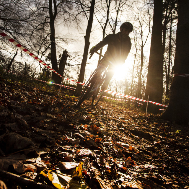 """Cyclocross racer"" stock image"