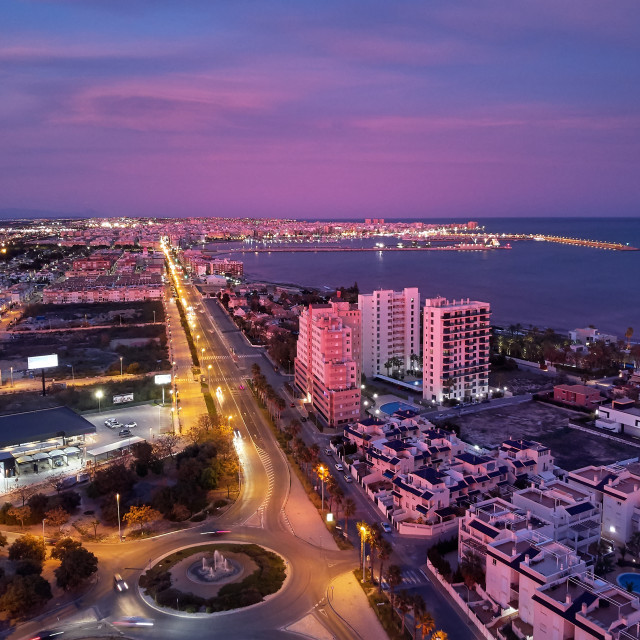 """""""Aerial photo top view of Torrevieja spanish resort city during s"""" stock image"""
