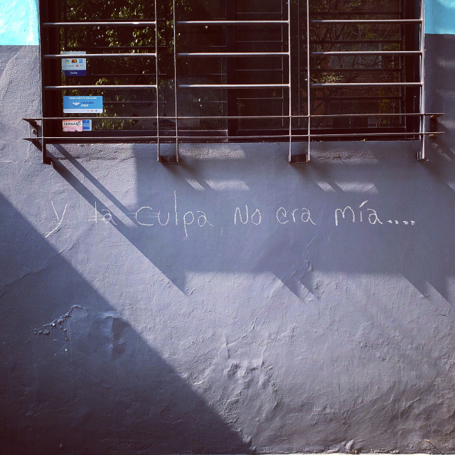 """""""A message written on a wall in Mexico City, Mexico"""" stock image"""