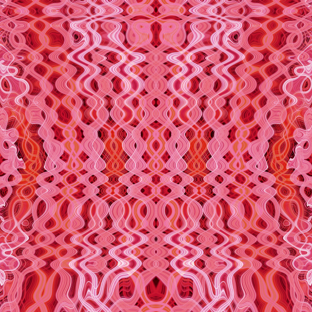 """""""Red psychedelic pattern"""" stock image"""