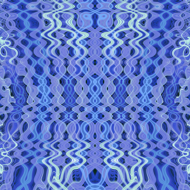 """""""Blue psychedelic pattern"""" stock image"""