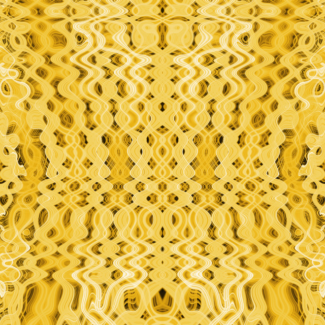 """""""Yellow psychedelic pattern"""" stock image"""