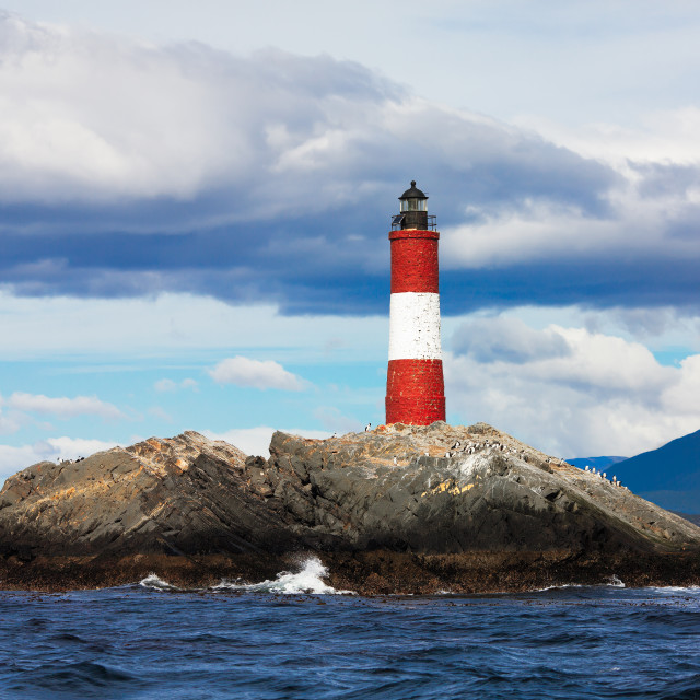 """Lighthouse at the End of the World"" stock image"