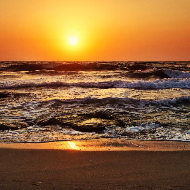 """Morning waves"" stock image"