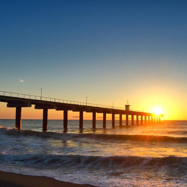 """Morning pier"" stock image"