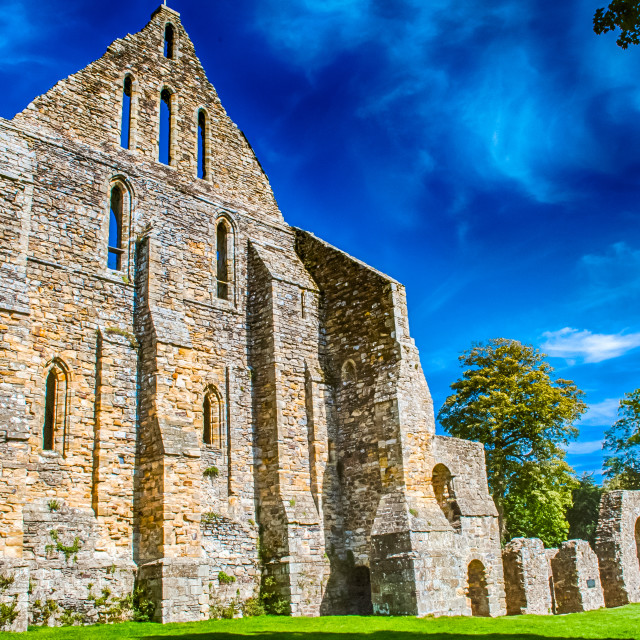 """""""Battle Abbey Sussex UK. commemorates the Battle of Hastings 1066"""" stock image"""