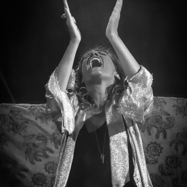 """Irene Grandi and Pastis live at Rock sul Serio (BG) 23-07-2017"" stock image"