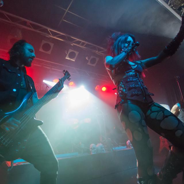 """Theatres des Vampires at Midian Live (Cremona) 06-05-2017"" stock image"