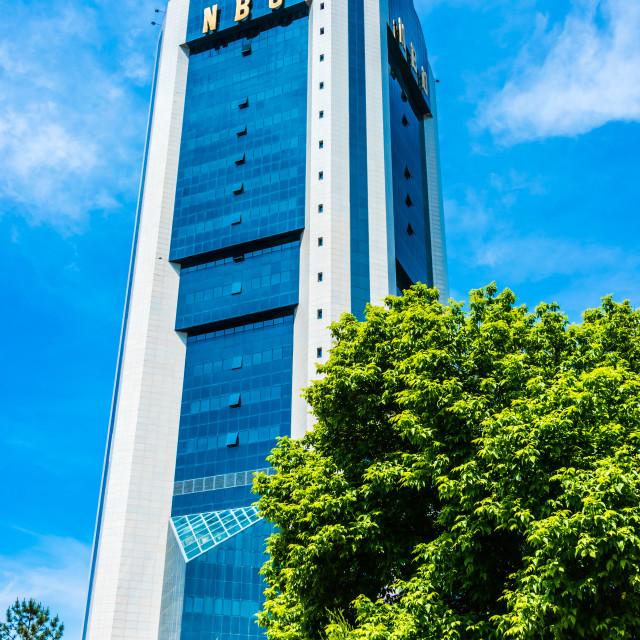 """Office building of National Bank of Uzbekistan in Taskent"" stock image"
