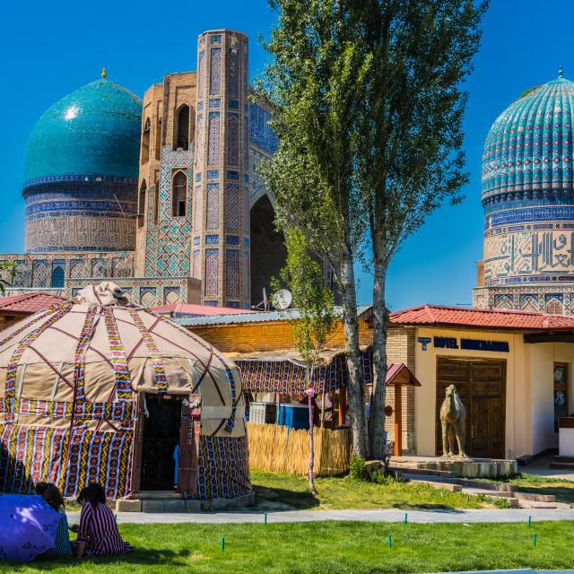 """Bibi-Khanym Mosque in Samarkand, Uzbekistan"" stock image"