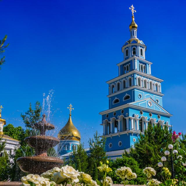 """Russian Orthodox cathedral in Tashkent, Uzbekistan"" stock image"