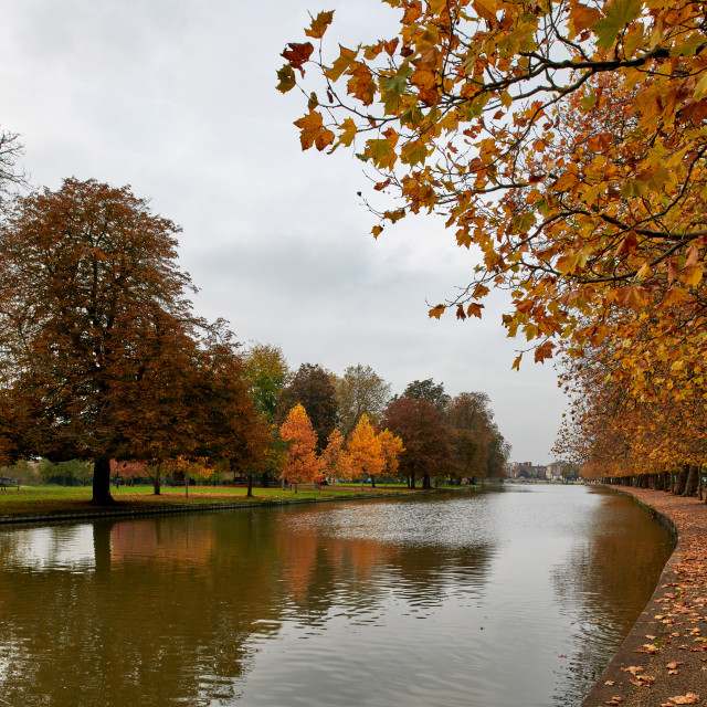 """""""The Embankment, Bedford"""" stock image"""