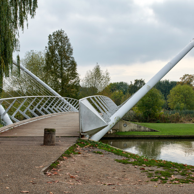 """""""The Butterfly Bridge, Bedford"""" stock image"""