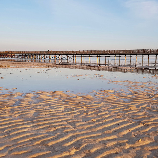 """""""Lowtide at the Red Sea"""" stock image"""