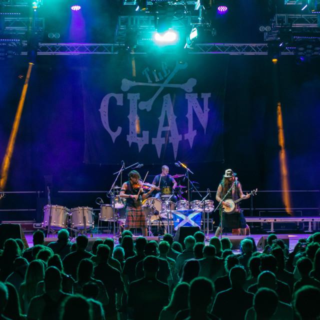 """""""The Clan at Bum Bum Festival (BG) 22-08-2019"""" stock image"""
