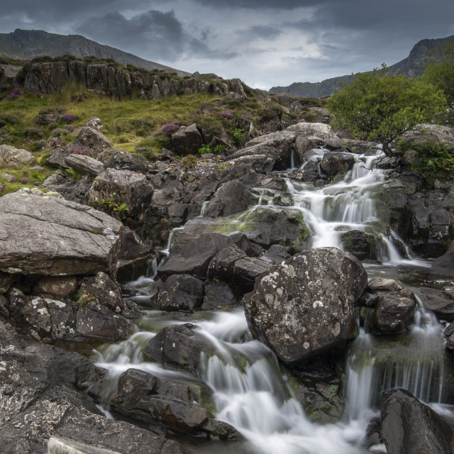 """""""Waterfall in Wales"""" stock image"""