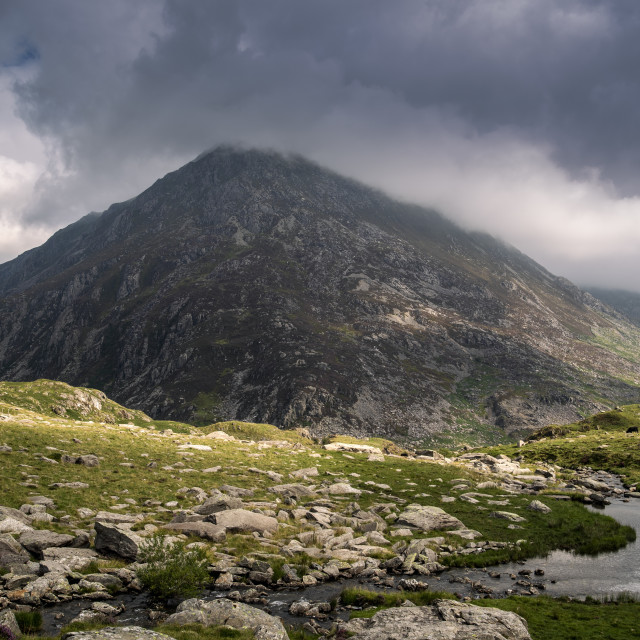 """""""Mountain in Wales"""" stock image"""