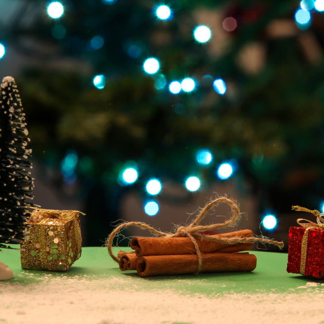 """""""Christmas decoration with lights in background"""" stock image"""