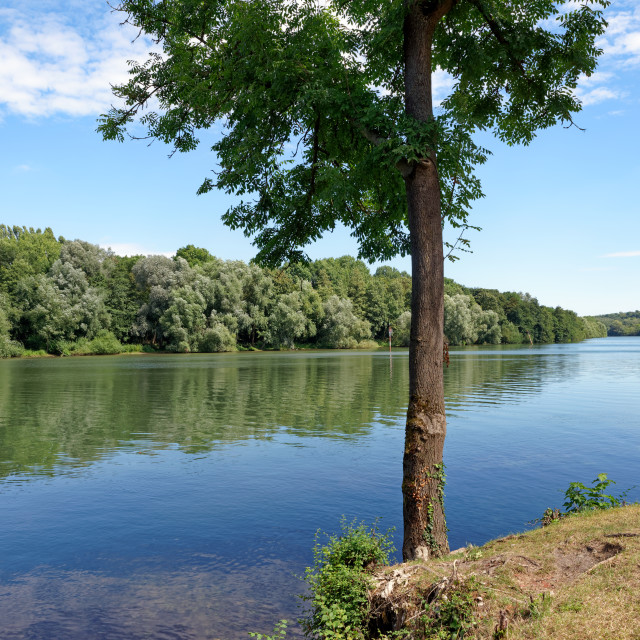 """""""Oise river"""" stock image"""