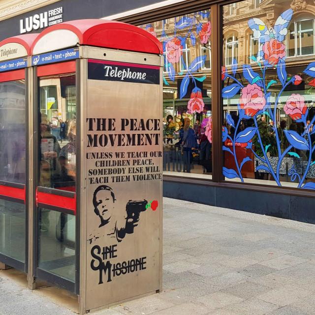 """Street Graffiti - The Peace Movement"" stock image"