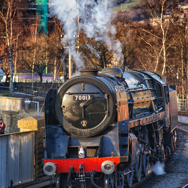 """""""Oliver Cromwell 70013"""" stock image"""