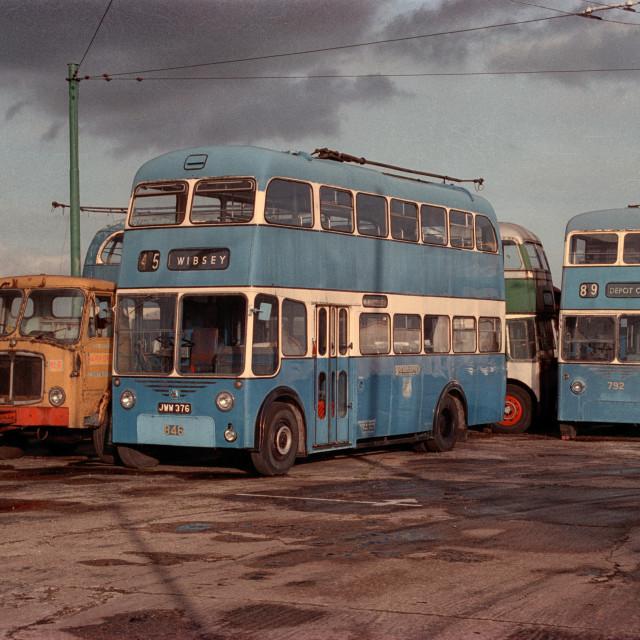 """Former Bradford Trolly buses"" stock image"