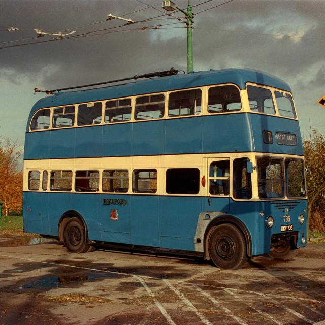 """Former Bradford Trolley bus"" stock image"