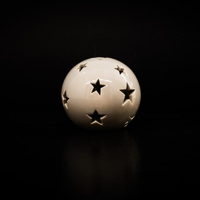 """""""Christmas ball candle holder"""" stock image"""