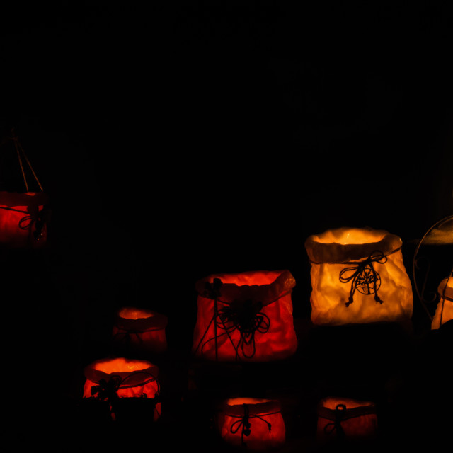 """Colored lanterns"" stock image"