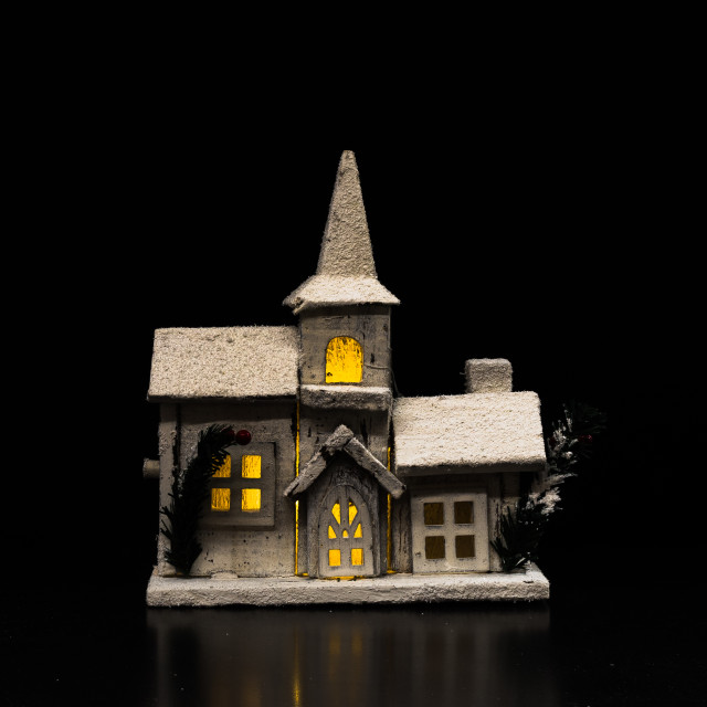 """""""Small wooden Christmas house"""" stock image"""