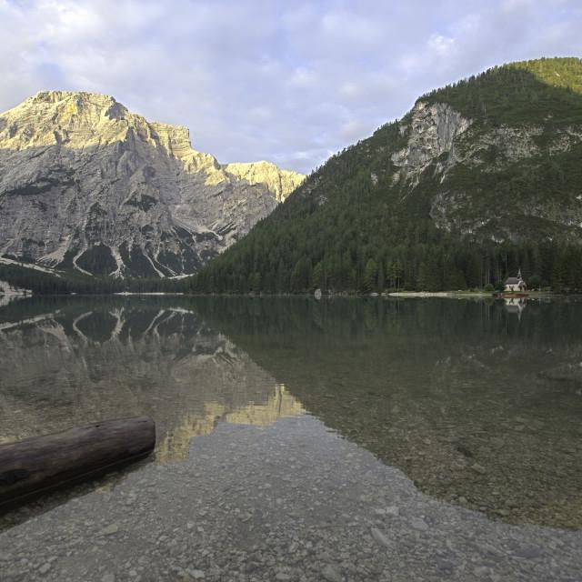 """""""Lake Braies"""" stock image"""
