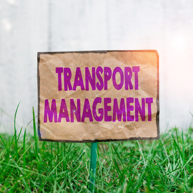 """""""Handwriting text writing Transport Management. Concept meaning analysisaging..."""" stock image"""