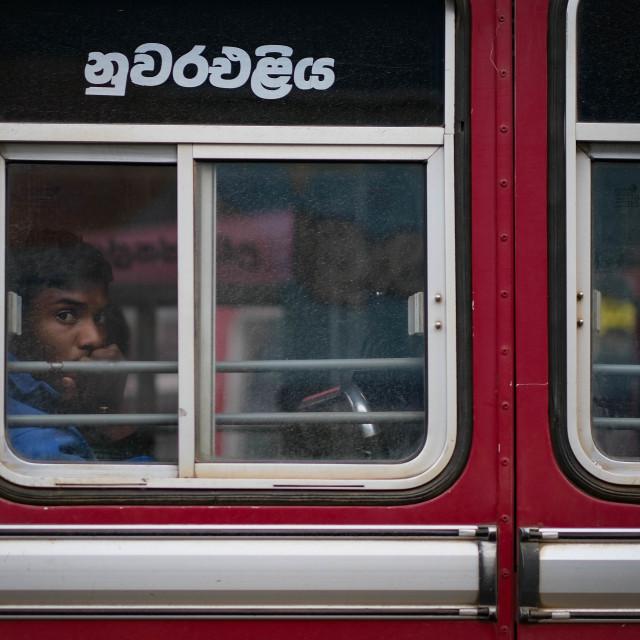 """""""Bus in Nuwara Eliya, Sri Lanka"""" stock image"""