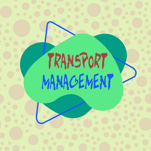 """""""Conceptual hand writing showing Transport Management. Business photo..."""" stock image"""