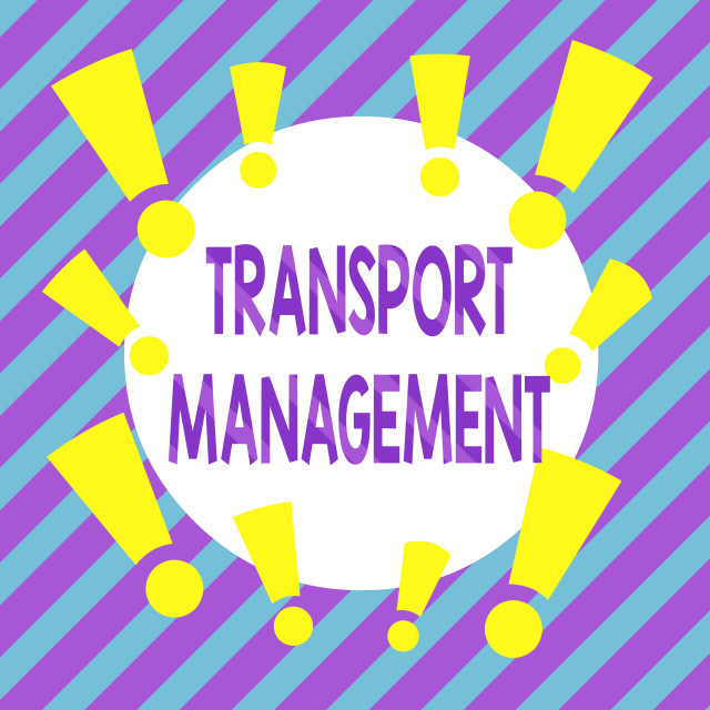 """""""Handwriting text Transport Management. Concept meaning analysisaging aspect..."""" stock image"""