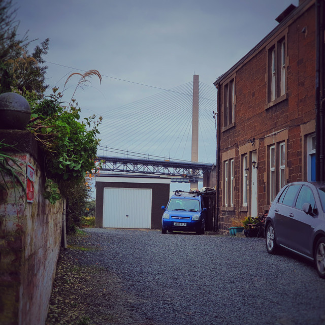 """""""A Quiet Street In N. Queensferry."""" stock image"""