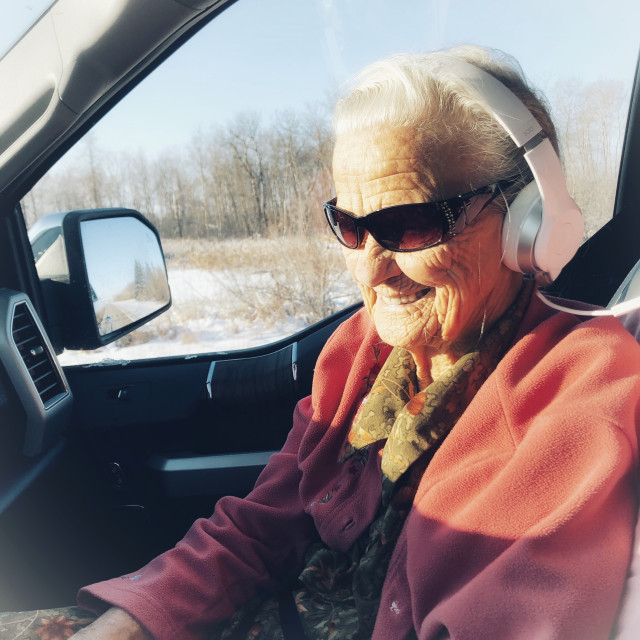 """""""Cool old lady"""" stock image"""