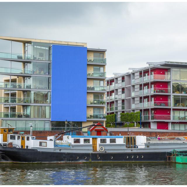 """Bristol waterside"" stock image"