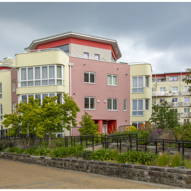 """""""Apartments In Bristol City"""" stock image"""