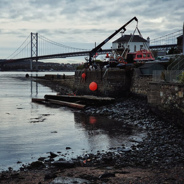 """""""N. Queensferry Harbour"""" stock image"""