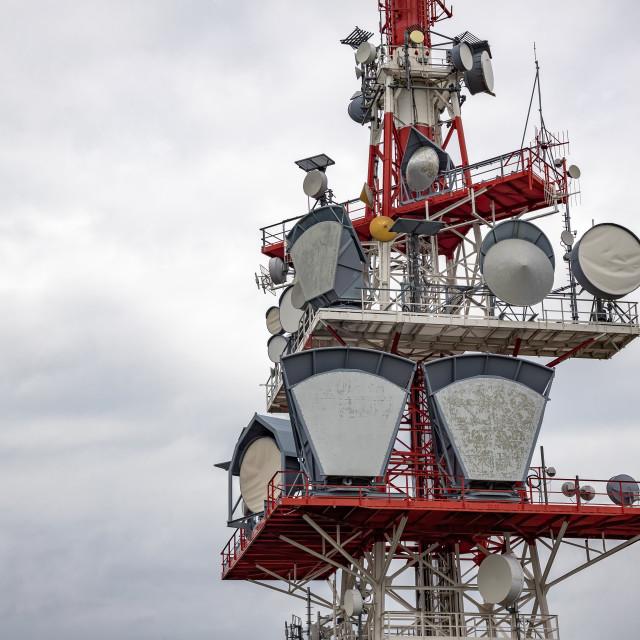 """communication tower"" stock image"
