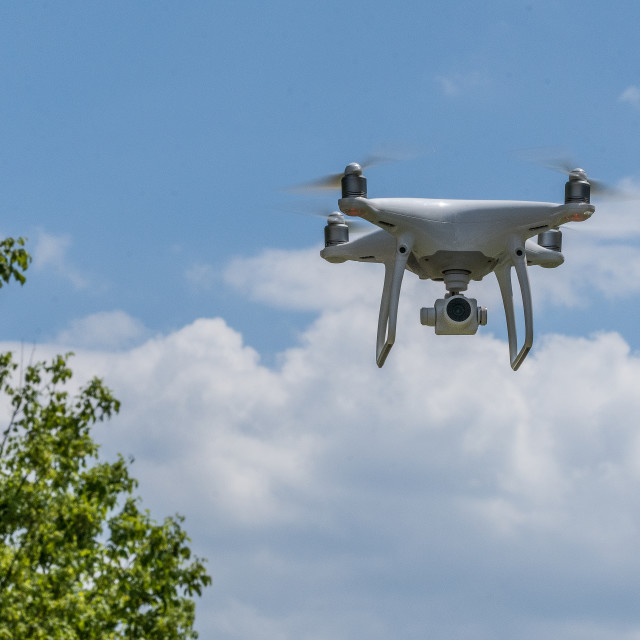 """""""Drone with camera"""" stock image"""