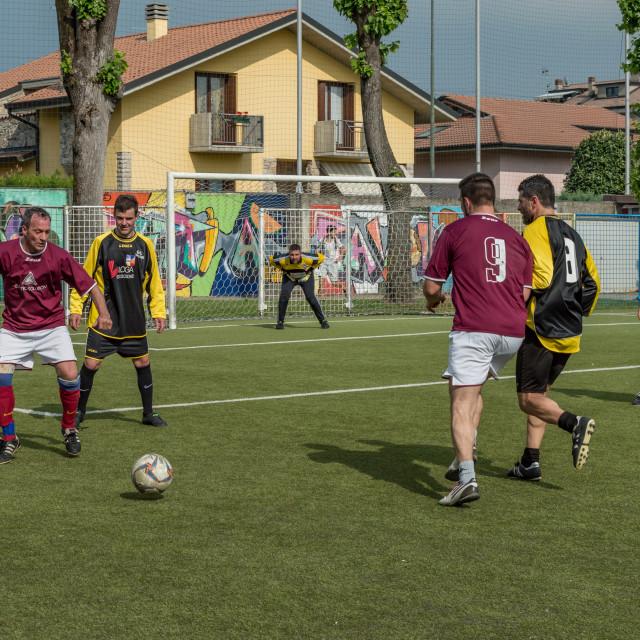 """""""G.S. Santa Maria di Oleno vs. Murazzi (Dalmine) 06-05-2018"""" stock image"""