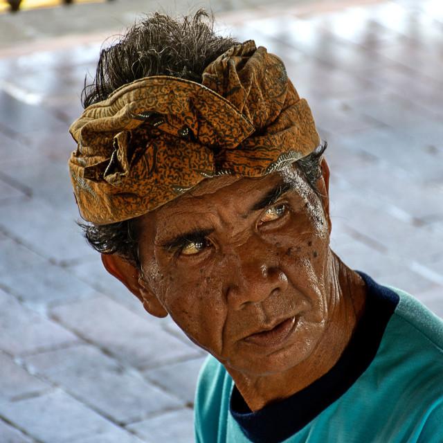 """""""A Balinese Artisan."""" stock image"""