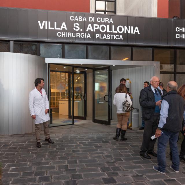 """Photo reportage of the 35th anniversary of the Villa Sant'Apollonia Clinic"" stock image"
