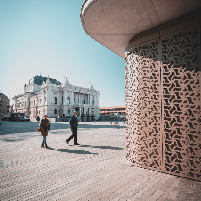 """Zurich opera house"" stock image"