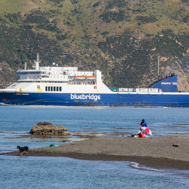 """Bluebridge ferry"" stock image"