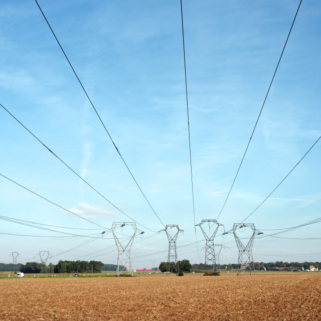 """High Voltage Pylons"" stock image"