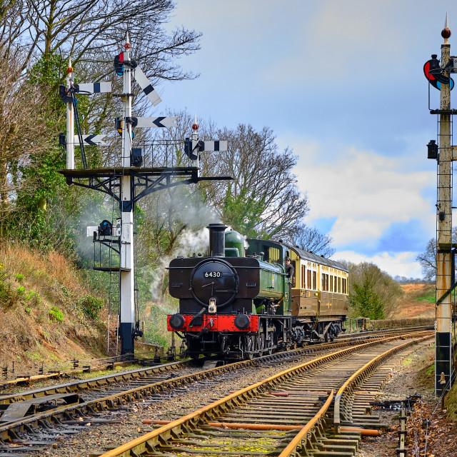 """""""GWR 6400 Class 0-6-0PT No.6430"""" stock image"""
